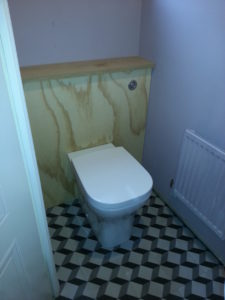 Making surround for new back to wall toilet